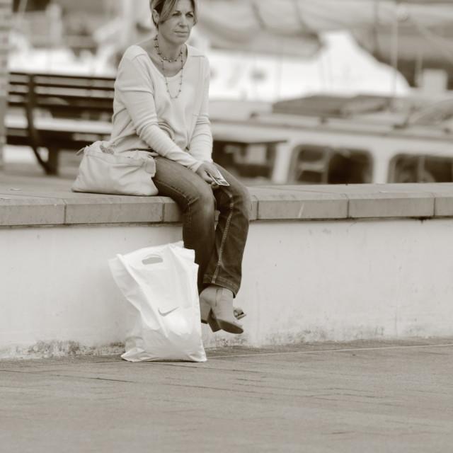 """Lone Woman"" stock image"