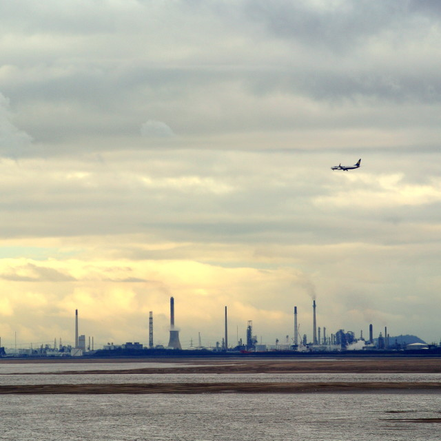"""""""View across the Mersey"""" stock image"""