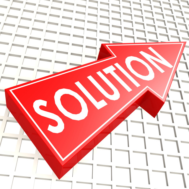 """""""Solution arrow with graph background"""" stock image"""
