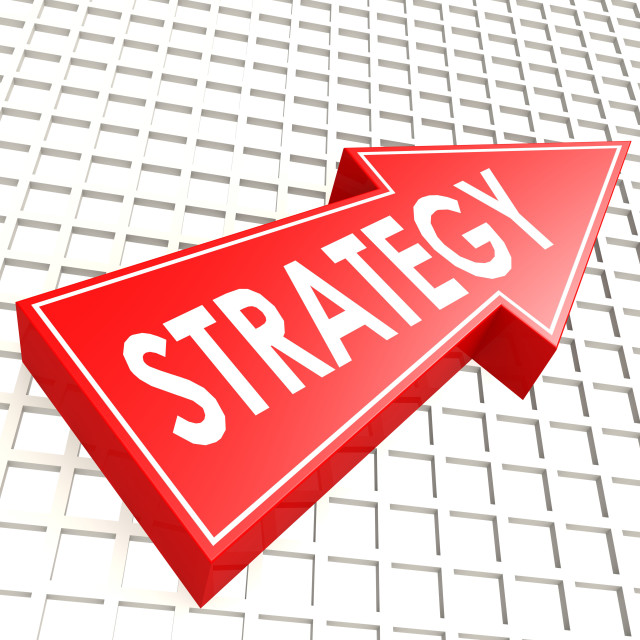 """""""Strategy arrow with graph background"""" stock image"""