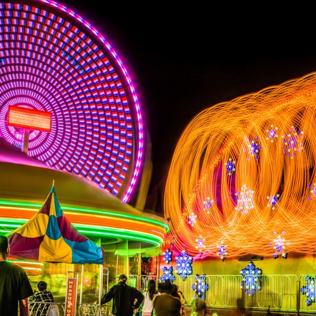 """Carnival Lights"" stock image"