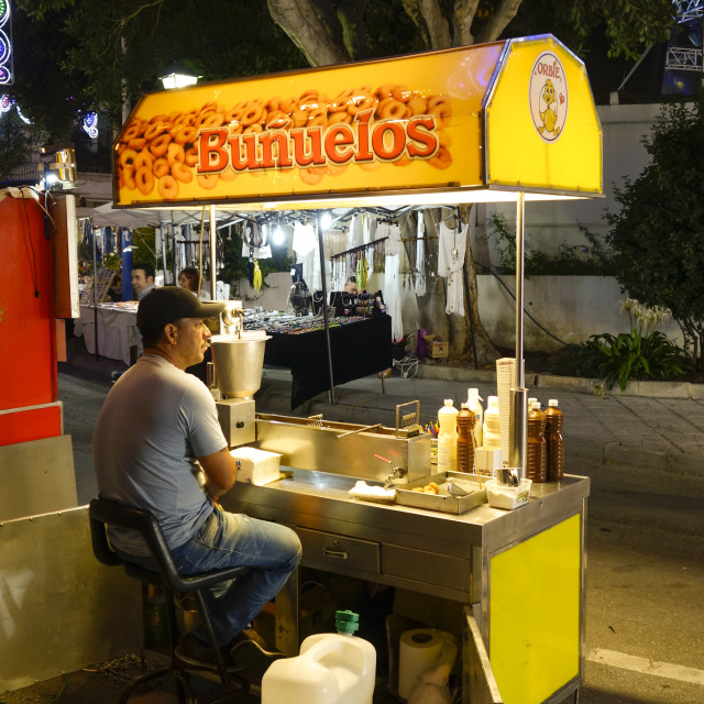 """Bunuelos stall at fun fair"" stock image"