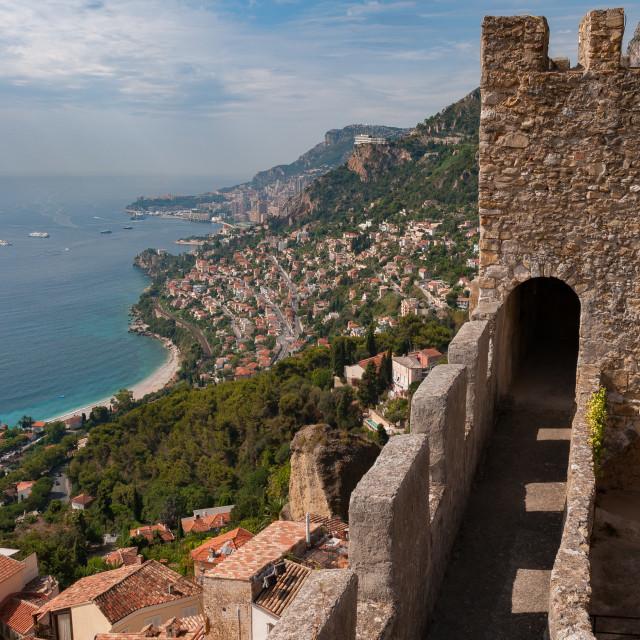 """Roquebrune Medieval Castle"" stock image"