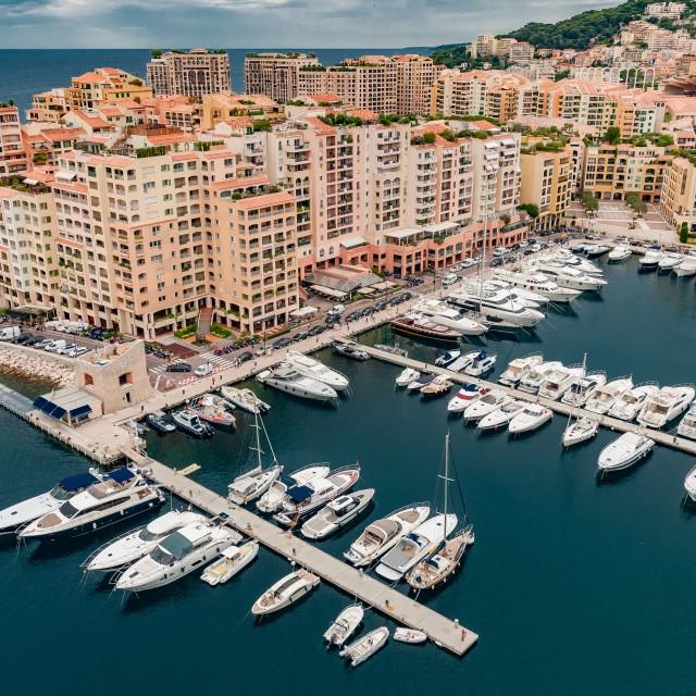 """Port Fontvielle, Monaco"" stock image"