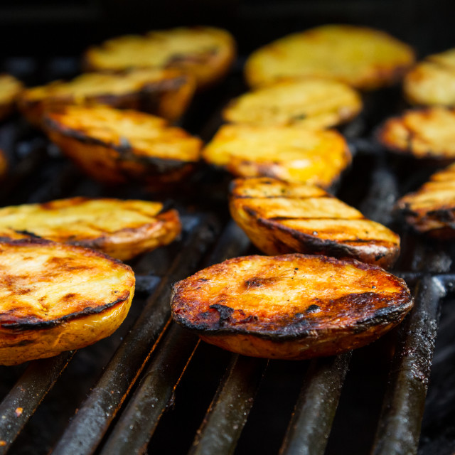 """""""Grilled potatos"""" stock image"""