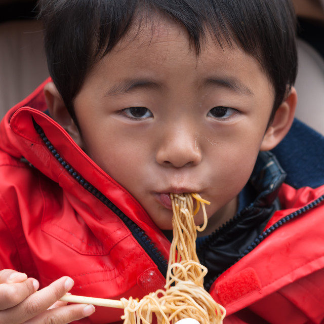 """""""Noodle lunch"""" stock image"""