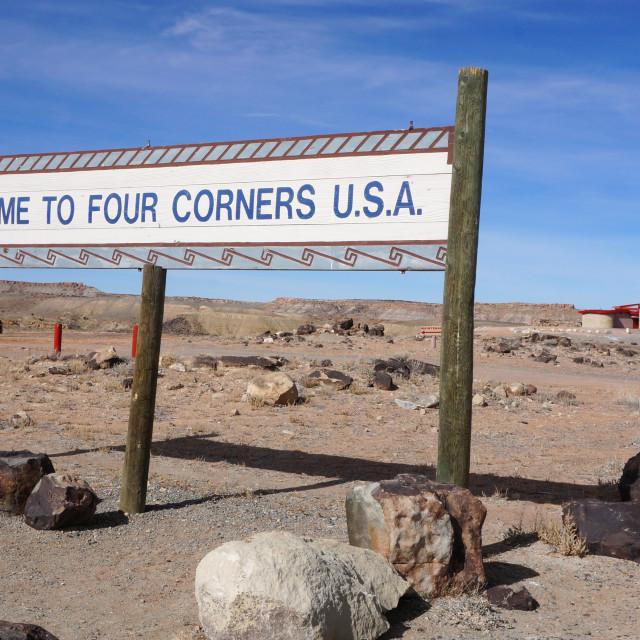 """Four Corners, USA"" stock image"