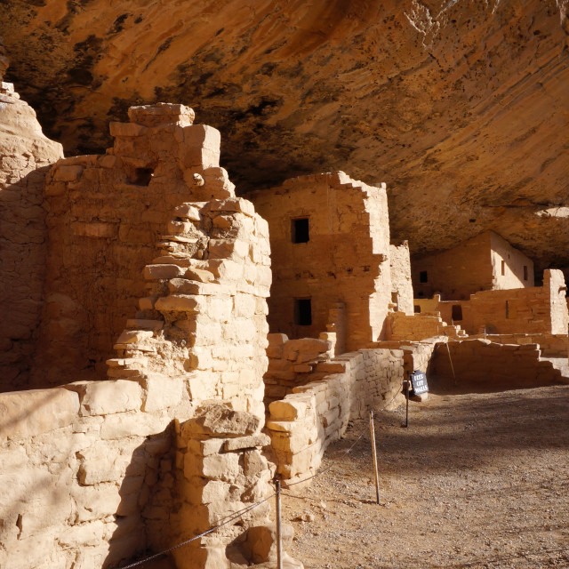 """Spruce Tree House, Mesa Verde National Park"" stock image"