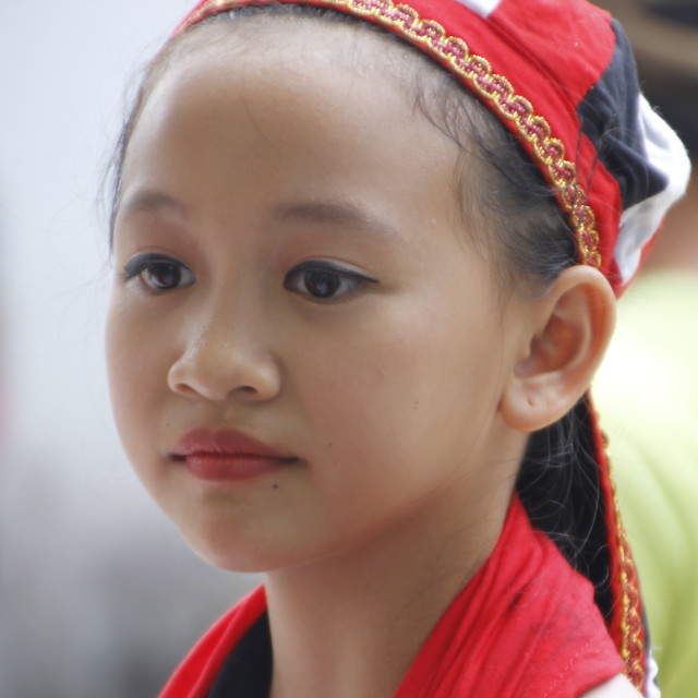 """young Bidayuh dancer"" stock image"