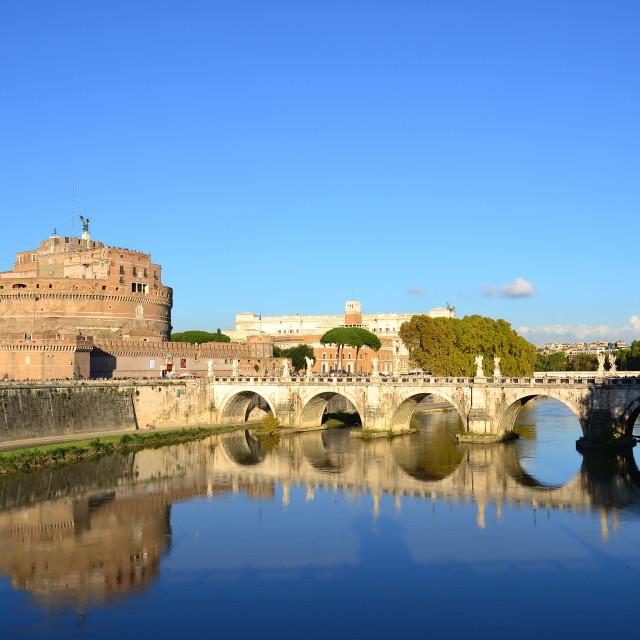 """Ponte Sant'Angelo, Rome"" stock image"