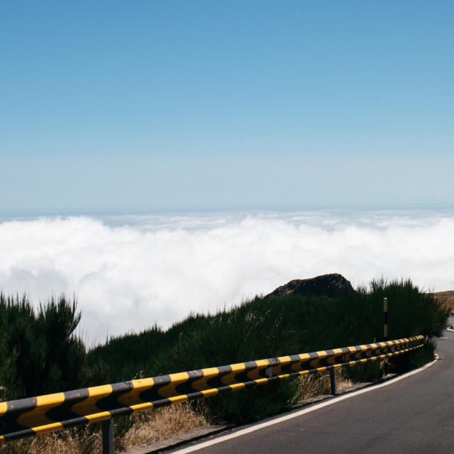 """Road above the clouds"" stock image"