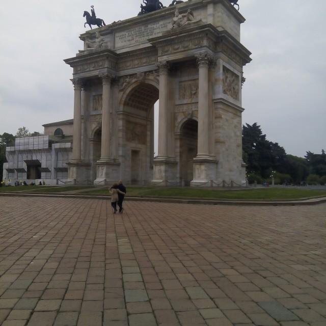 """""""Milano,arco della pace"""" stock image"""