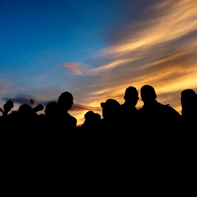 """Festival sunset"" stock image"