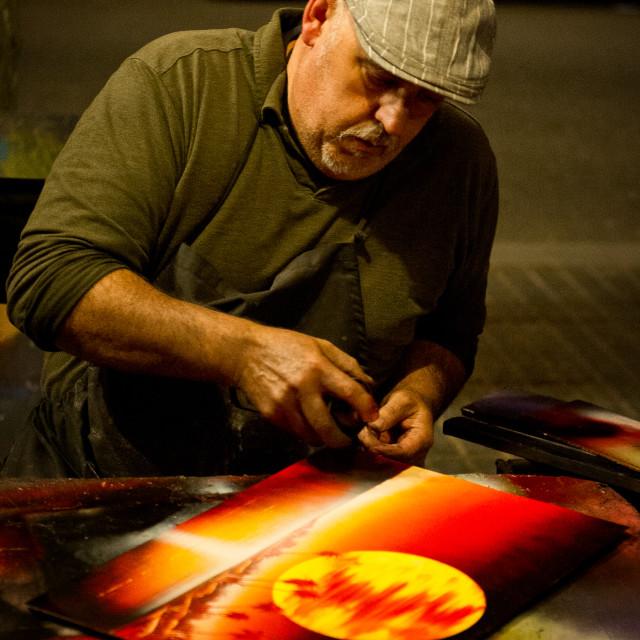 """Street artist, Barcelona"" stock image"