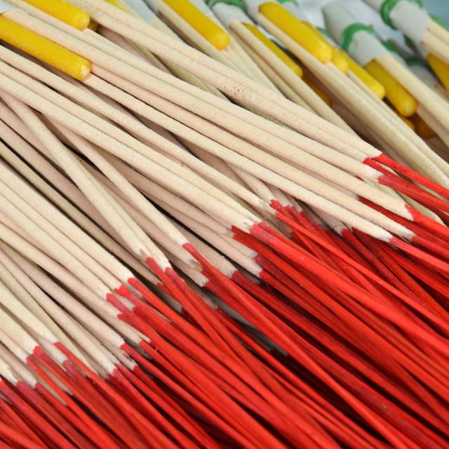 """""""Pattern of joss stick"""" stock image"""