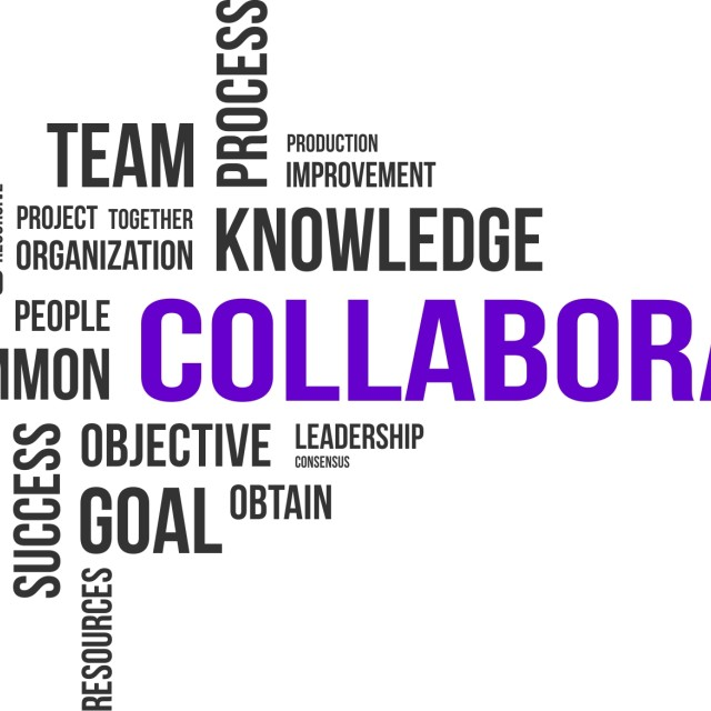 """""""word cloud - collaboration"""" stock image"""