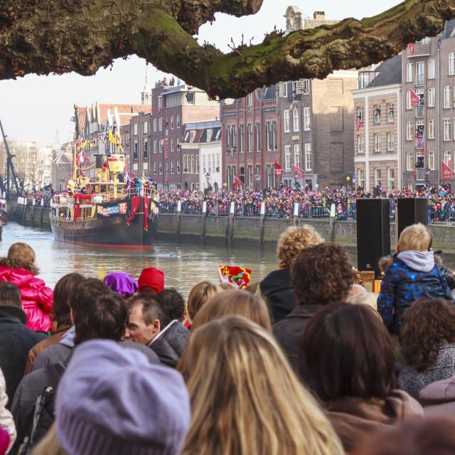 """Sinterklaas boat"" stock image"