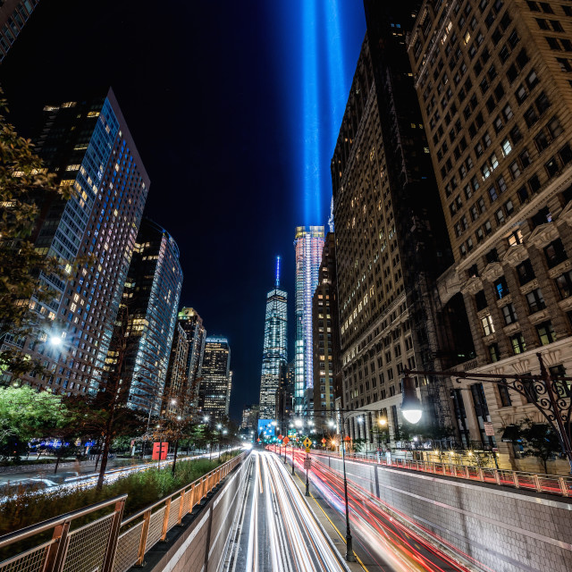 """Tribute In Light"" stock image"