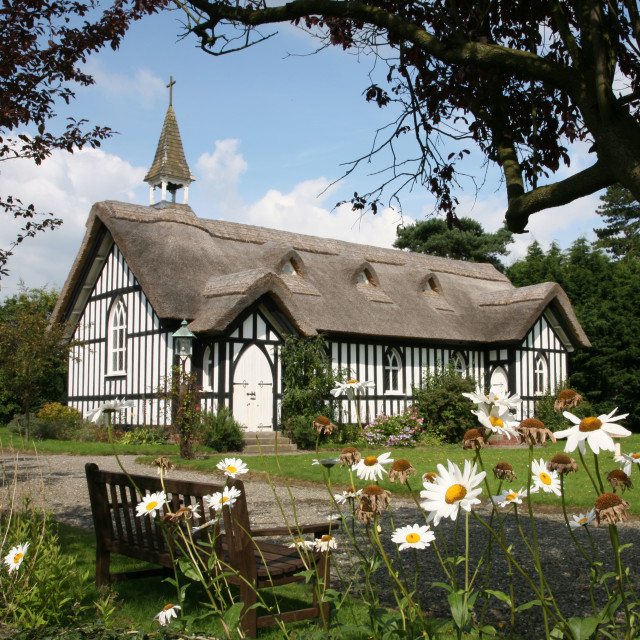 """All Saints' Church, Little Stretton, Shropshire"" stock image"