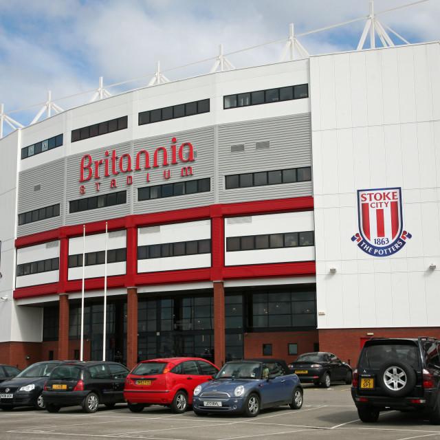 """Britannia Stadium, home ground of Stoke City Football Club"" stock image"