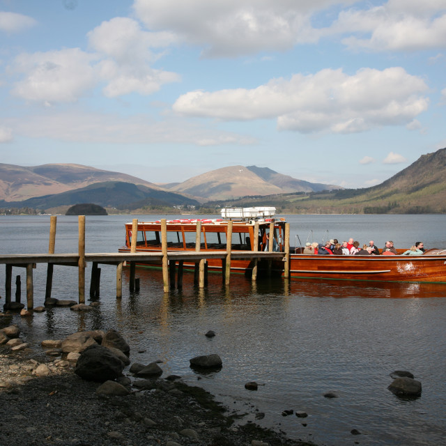 """Lake Derwent or Derwentwater, the English Lake District"" stock image"