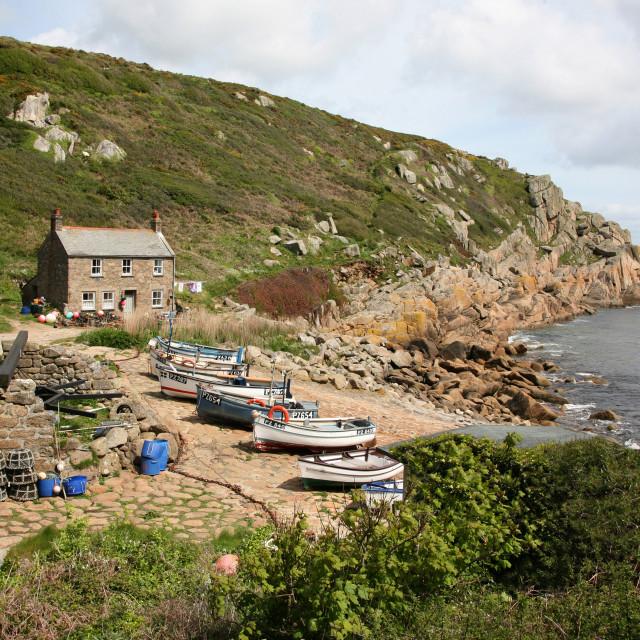 """Penberth Cove Cornwall"" stock image"