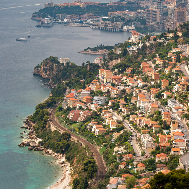 """Roquebrune-Cap-Martin, France"" stock image"