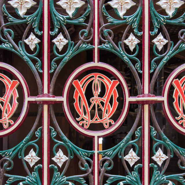 """Ironwork at Crossness"" stock image"