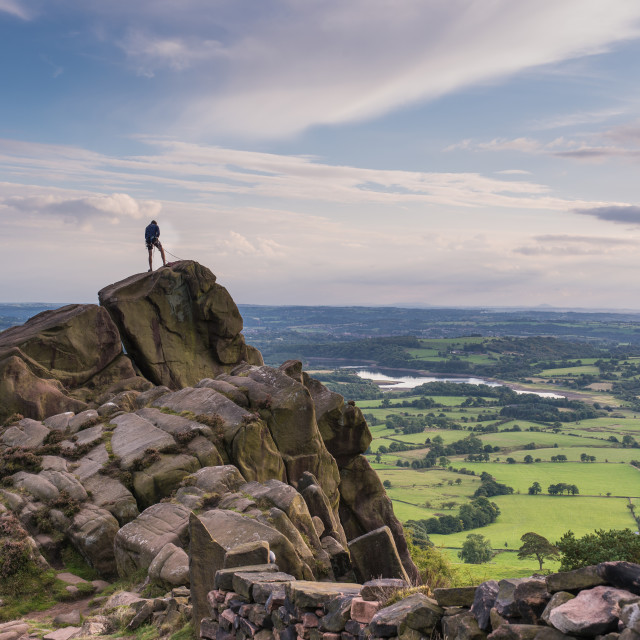 """climbing at the Roaches, Peak District"" stock image"