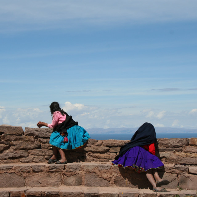 """Women of Taquile"" stock image"