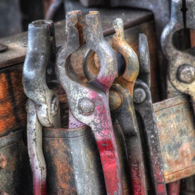 """Blacksmith's tools"" stock image"
