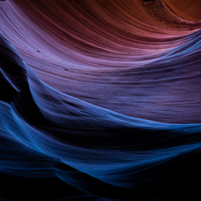 """Light and Shadow in Antelope Canyon"" stock image"