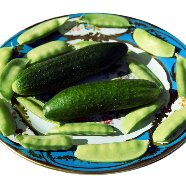 """""""Peas and cucumbers"""" stock image"""