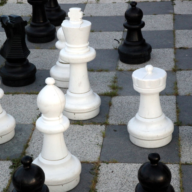 """""""Large outdoor chess set"""" stock image"""