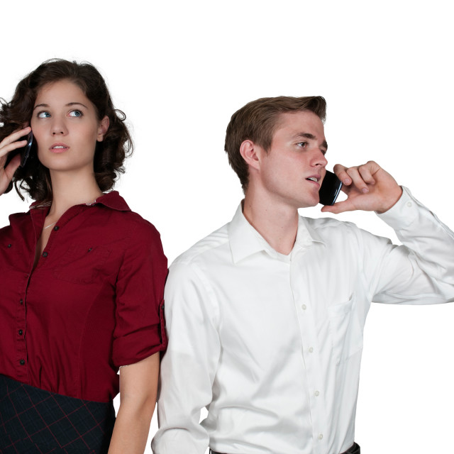 """""""Business People on the Phone"""" stock image"""
