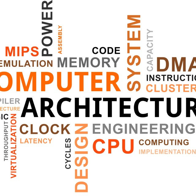 """word cloud - computer architecture"" stock image"