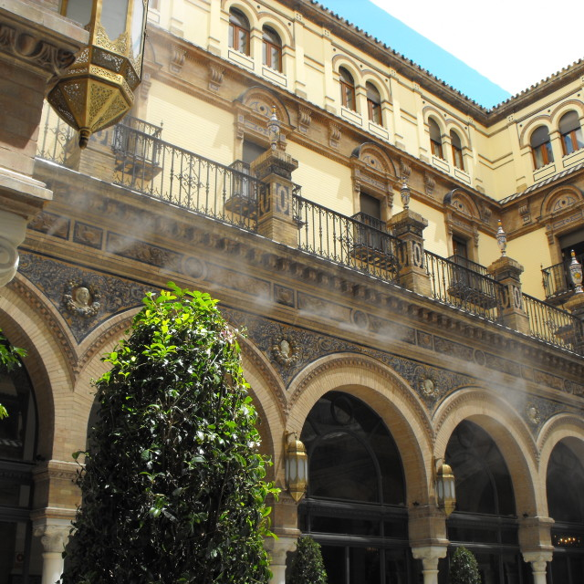 """Alfonso X111 Hotel seville"" stock image"