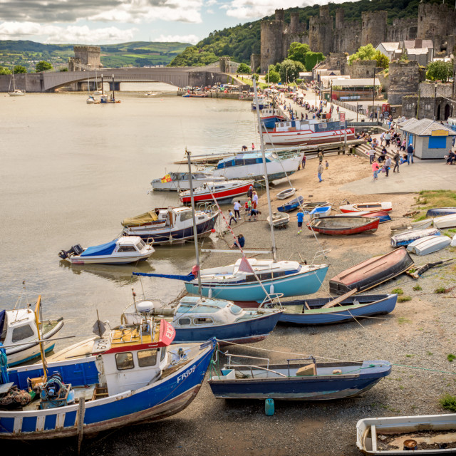 """""""Conwy Quay"""" stock image"""
