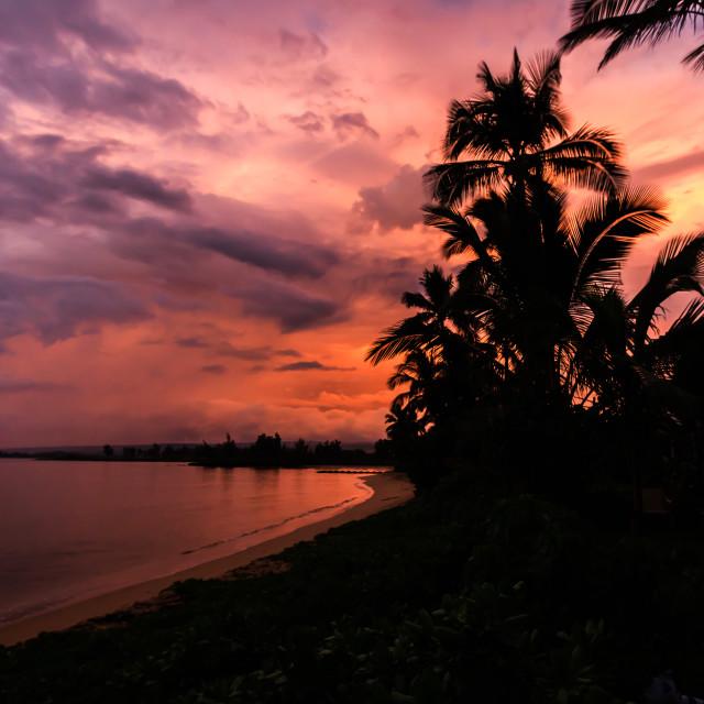 """Oahu Sunrise"" stock image"