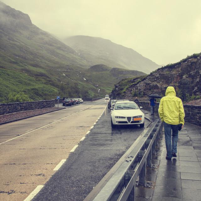 """""""Rain in Scotland"""" stock image"""