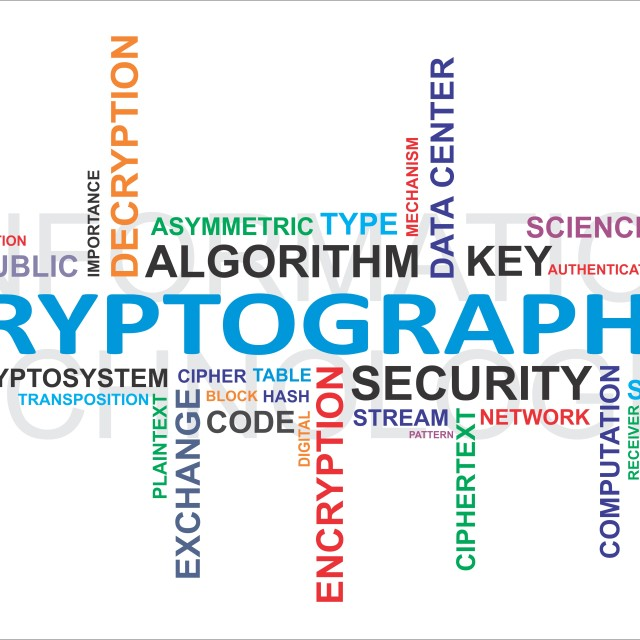 """word cloud - cryptography"" stock image"