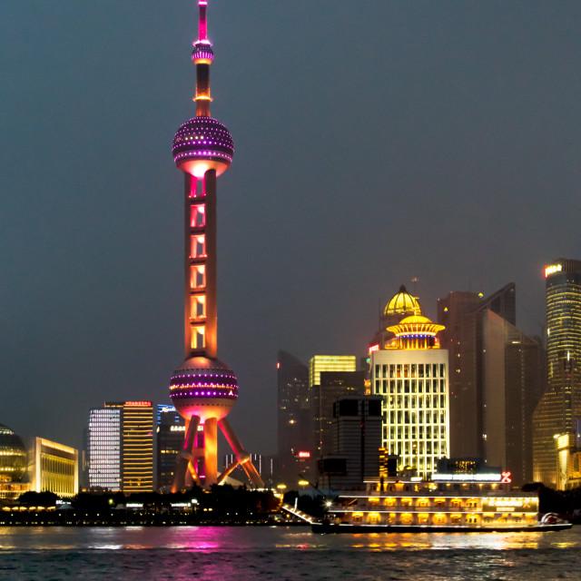 """Oriental Pearl Tower, Shanghai"" stock image"