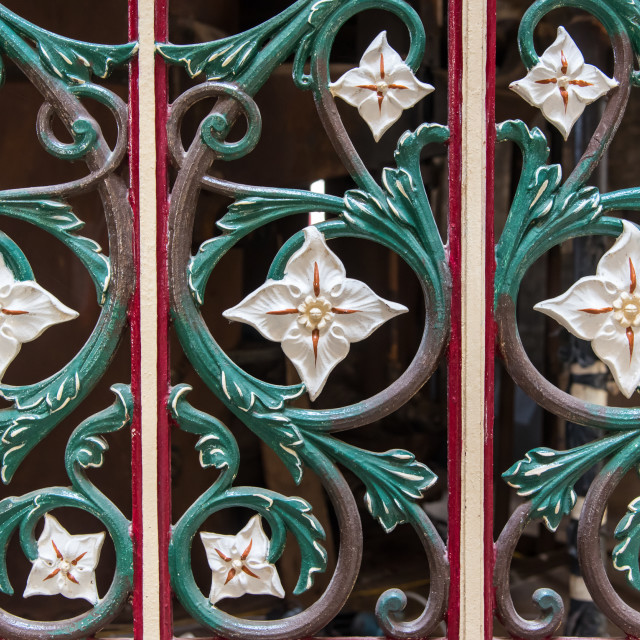 """""""Ironwork at Crossness"""" stock image"""