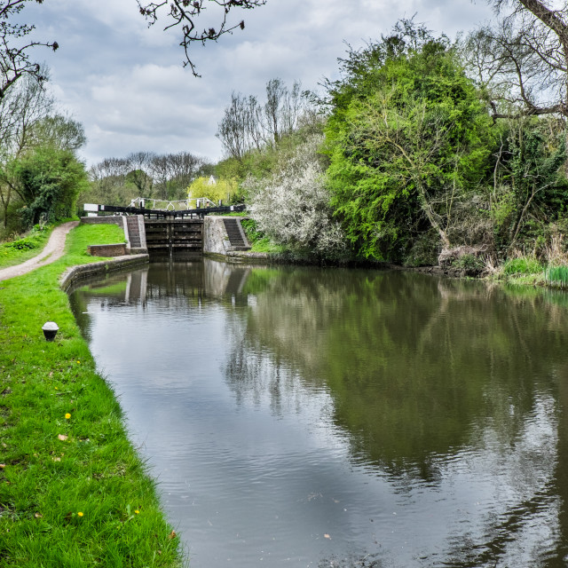 """Grand Union Canal Lock"" stock image"