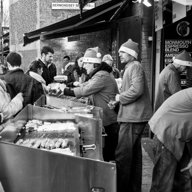 """Borough Market at Christmas"" stock image"