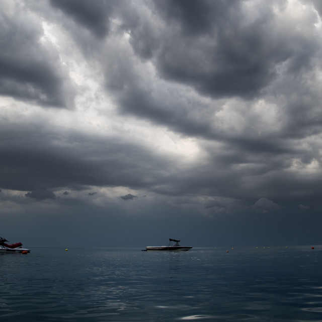 """Sea before the storm"" stock image"