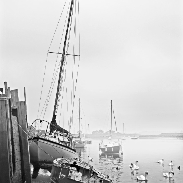 """Murky Day at Hullbridge"" stock image"