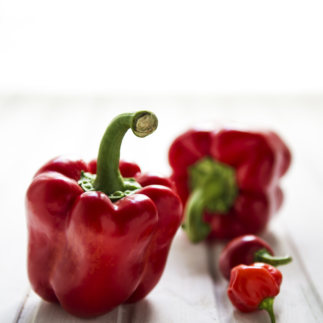 """Red peppers"" stock image"