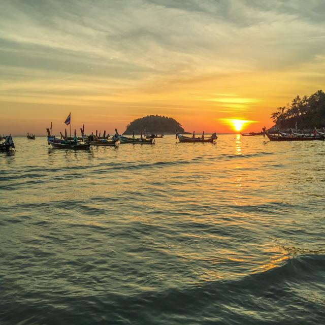 """""""Kata beach sunset view"""" stock image"""