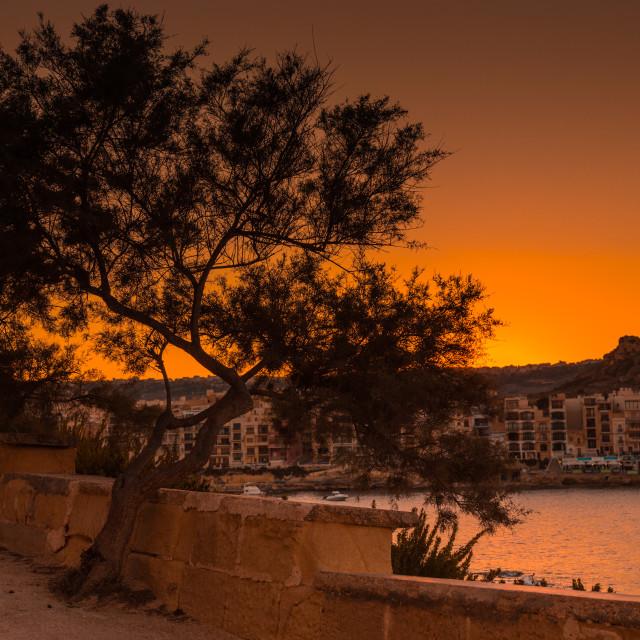 """""""Gozo Sunset"""" stock image"""
